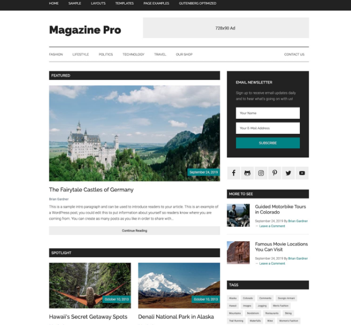 Magazine Pro WordPress Theme