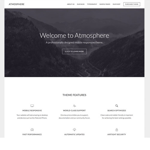 Atmosphere Pro WordPress Theme
