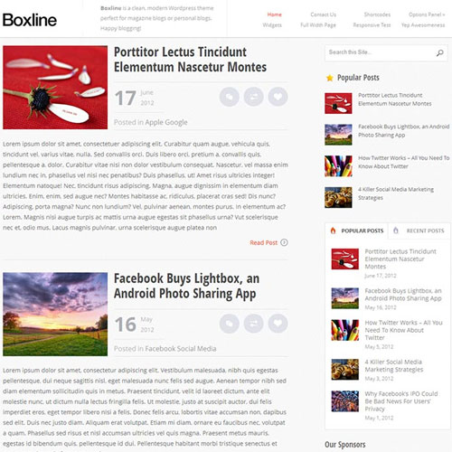 Boxline WordPress Theme