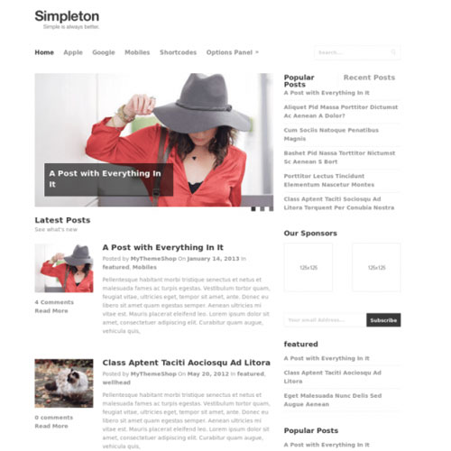 Simpleton WordPress Theme