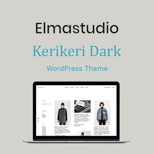 ElmaStudio Kerikeri Dark WordPress Theme