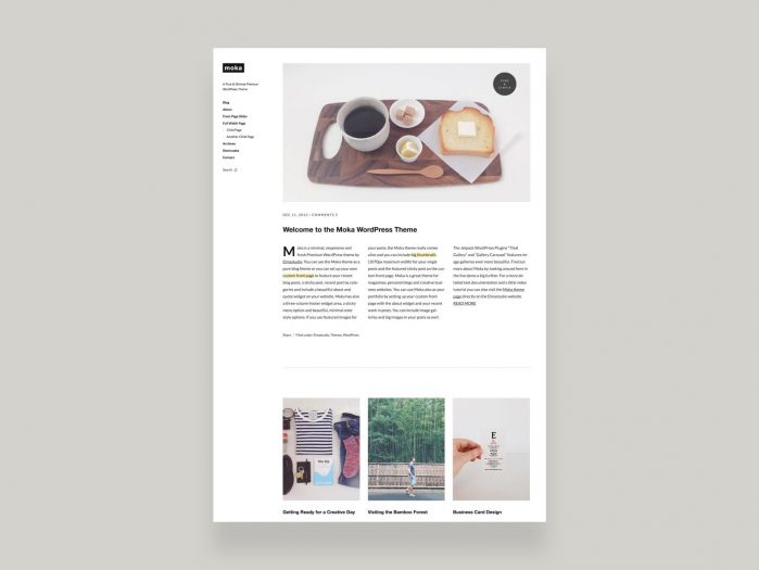 ElmaStudio Moka WordPress Theme