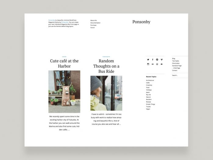 ElmaStudio Ponsonby WordPress Theme