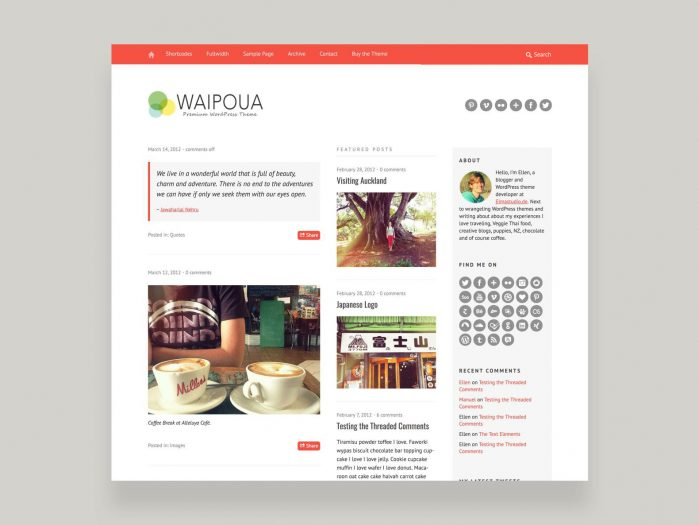 ElmaStudio Waipoua WordPress Theme