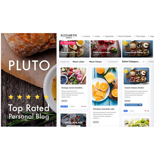 Pluto Clean Personal WordPress Theme