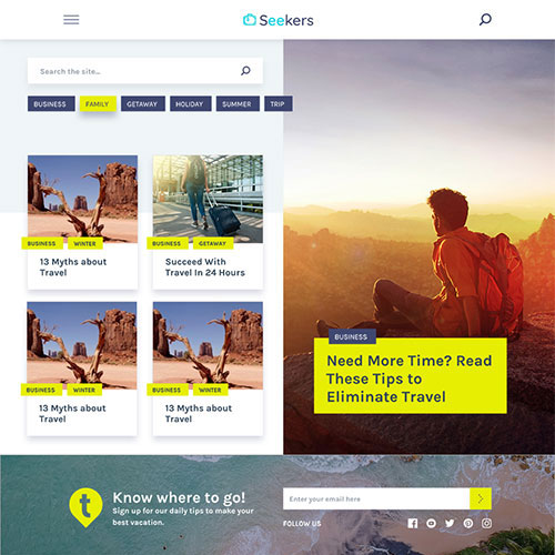 Seekers WordPress Theme